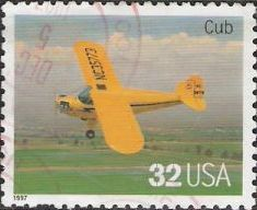 32-cent U.S. postage stamp picturing Cub airplane