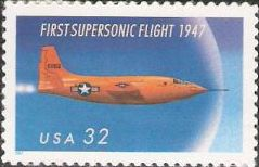 32-cent U.S. postage stamp picturing military airplane