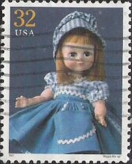 32-cent U.S. postage stamp picturing 'Maggie Mix-up' doll