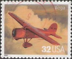 32-cent U.S. postage stamp picturing Vega airplane