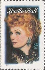 34-cent U.S. postage stamp picturing Lucille Ball