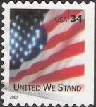 34-cent U.S. postage stamp picturing American flag