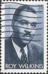34-cent u.S. postage stamp picturing Roy Wilkins
