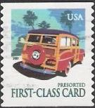 Non-denominated 15-cent U.S. postage stamp picturing station wagon