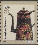 5-cent U.S. postage stamp picturing American toleware