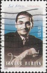 37-cent U.S. postage stamp picturing Irving Berlin