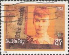 37-cent U.S. postage stamp picturing Nellie Bly