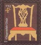 4-cent U.S. postage stamp picturing Chippendale chair
