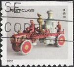 Non-denominated 37-cent U.S. postage stamp picturing toy fire pumper
