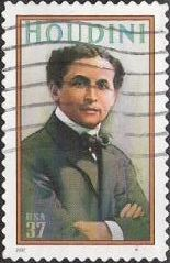37-cent U.S. postage stamp picturing Harry Houdini