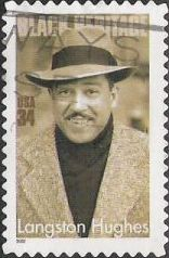 34-cent U.S. postage stamp picturing Langston Hughes