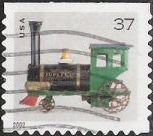 37-cent U.S. postage stamp picturing toy locomotive