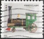 Non-denominated 37-cent U.S. postage stamp picturing toy locomotive