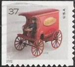 37-cent U.S. postage stamp picturing toy mail wagon
