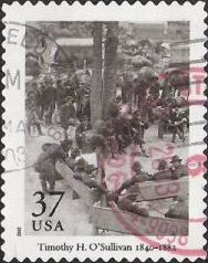 37-cent U.S. postage stamp picturing Timothy H. O'Sullivan photograph