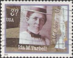 37-cent U.S. postage stamp picturing Ida M. Tarbell