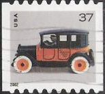 37-cent U.S. postage stamp picturing toy taxicab