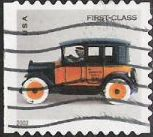 Non-denominated 37-cent U.S. postage stamp picturing toy taxicab