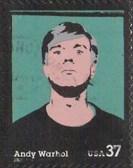 37-cent U.S. postage stamp picturing Andy Warhol