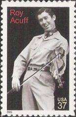 37-cent U.S. postage stamp picturing Roy Acuff