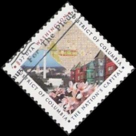 37-cent U.S. postage stamp picturing scenes from District of Columbia