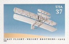37-cent U.S. postage stamp picturing airplane