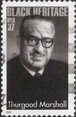 37-cent U.S. postage stamp picturing Thurgood Marshall