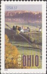 37-cent U.S. postage stamp picturing farm