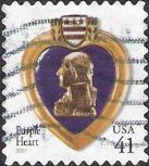 41-cent U.S. postage stamp picturing Purple Heart medal