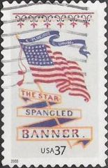 37-cent U.S. postage stamp picturing American flag