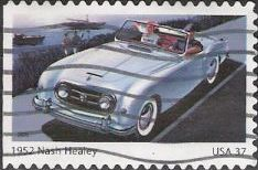37-cent U.S. postage stamp picturing 1952 Nash Healey