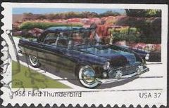 37-cent U.S. postage stamp picturing 1955 Ford Thunderbird