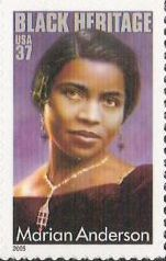 37-cent U.S. postage stamp picturing Marian Anderson