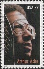 37-cent U.S. postage stamp picturing Arthur Ashe
