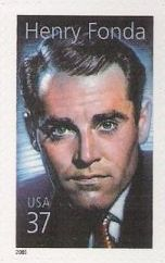 37-cent U.S. postage stamp picturing Henry Fonda