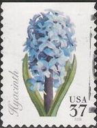 37-cent U.S. postage stamp picturing hyacinth