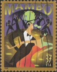 37-cent U.S. postage stamp picturing mambo dancers