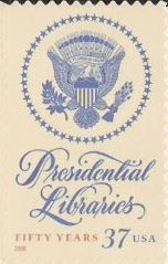 37-cent U.S. postage stamp picturing seal depicting eagle surrounded by stars