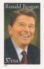 37-cent U.S. postage stamp picturing Ronald Reagan