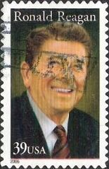 39-cent U.S. postage stamp picturing Ronald Reagan