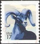 17-cent U.S. postage stamp picturing bighorn sheep