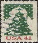 41-cent U.S. postage stamp picturing Christmas tree