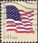 41-cent U.S. postage stamp picturing American flag
