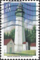 41-cent U.S. postage stamp picturing Grays Harbor lighthouse in Washington