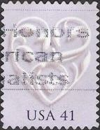 41-cent U.S. postage stamp picturing stylized heart
