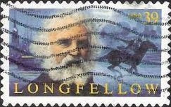 39-cent U.S. postage stamp picturing Henry Wadsworth Longfellow