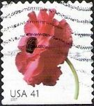 41-cent U.S. postage stmap picturing poppy