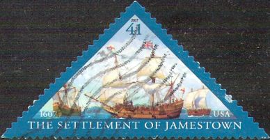 41-cent U.S. postage stamp picturing ships