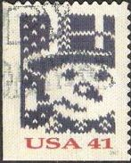 41-cent U.S. postage stamp picturing snowman wearing top hat