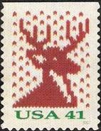 41-cent U.S. postage stamp picturing stag